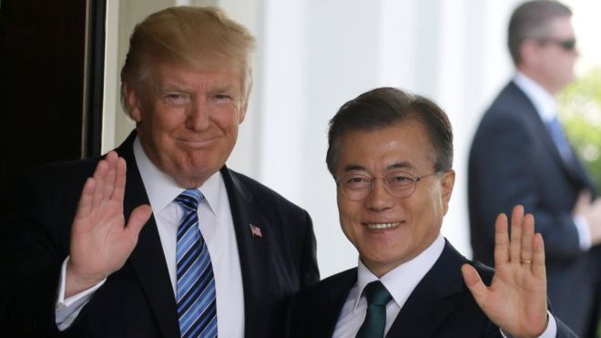 Trump Meets South Korean President Ahead Of US-North Korea Summit In Question