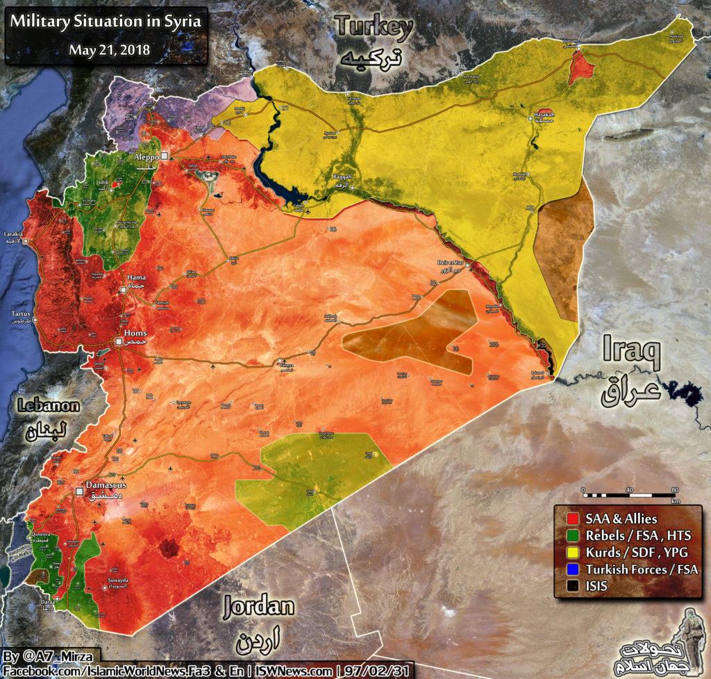 シリア政府軍とISIS攻撃を同時に実施する米国主導の連合航空機 - レポート