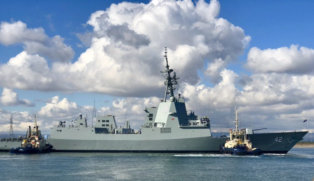 Australia Launches Third Hobart-class Air Warfare Destroyer