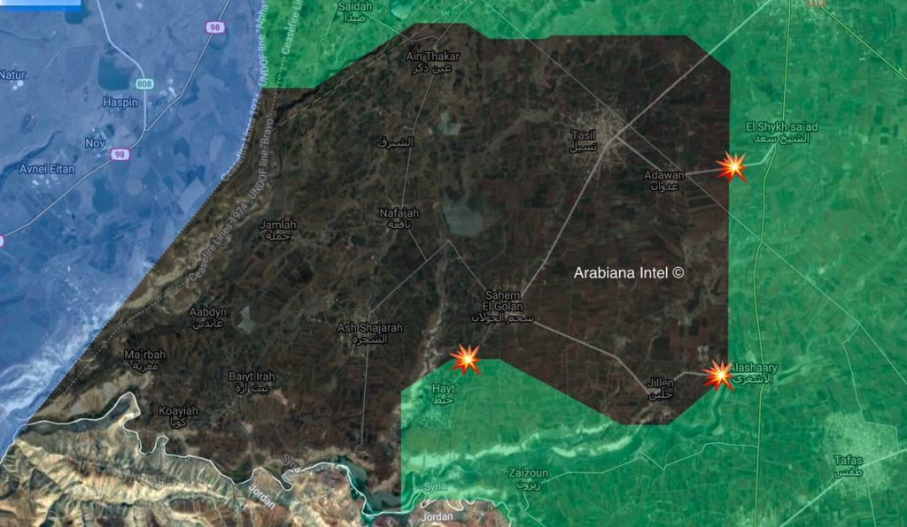 Map Update: Free Syrian Army Militants Clash With ISIS Members In Southern Syria