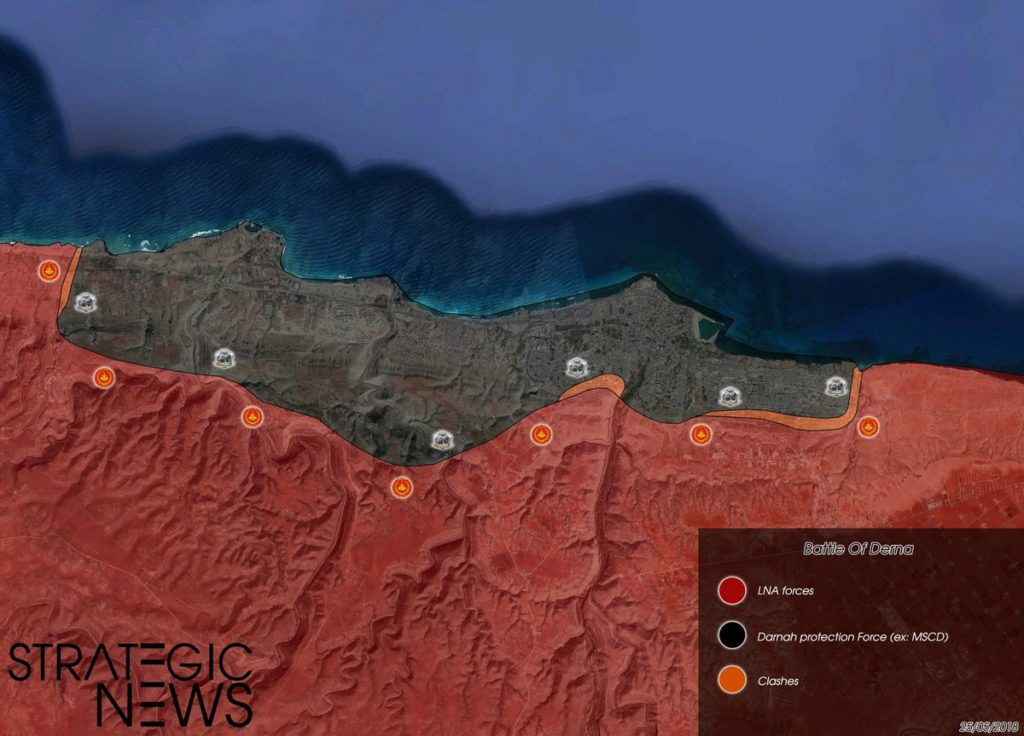 Map Update: Libyan National Army Storming Militant-held City Of Derna