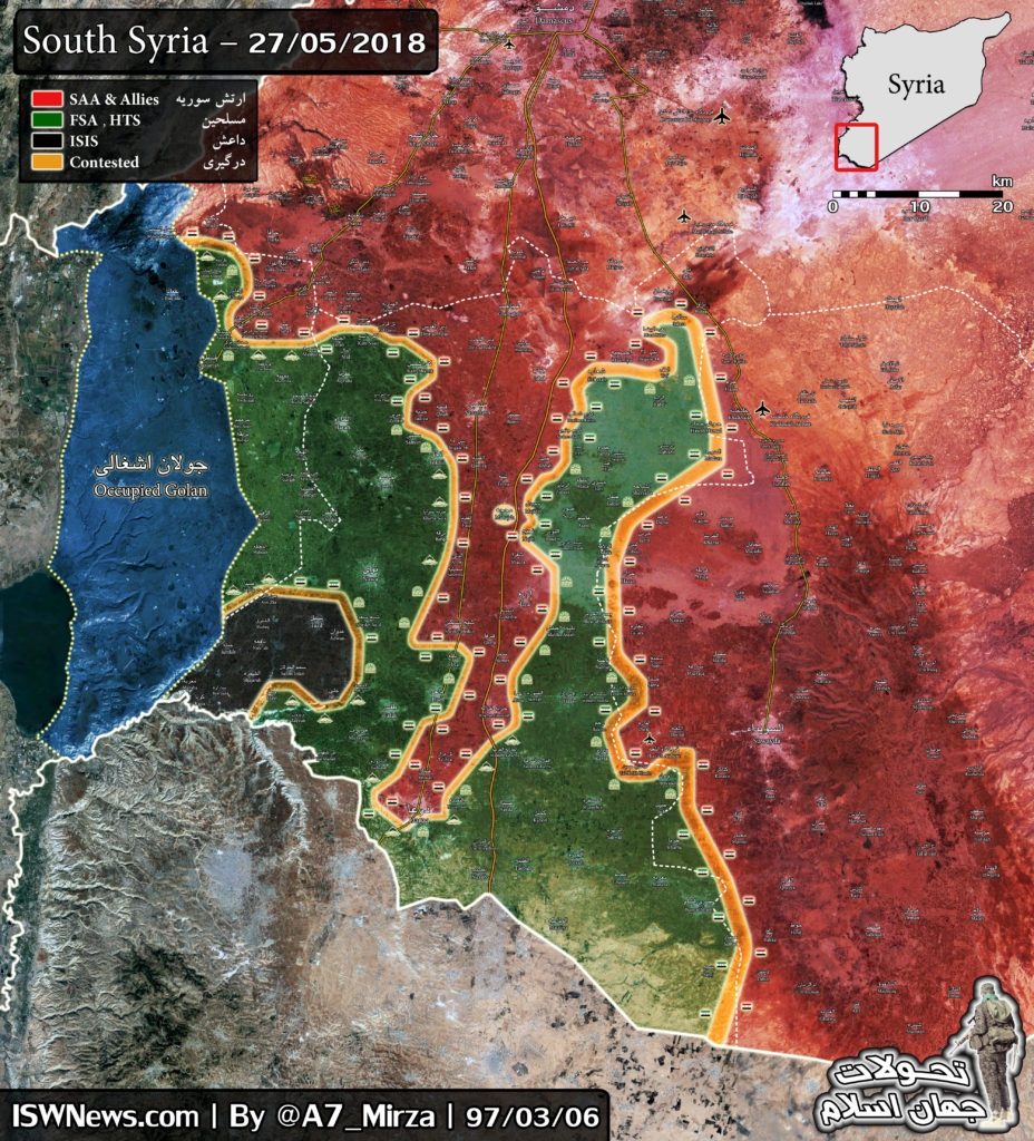 Map Update: Military Situation In Southern Syria On May 27, 2018