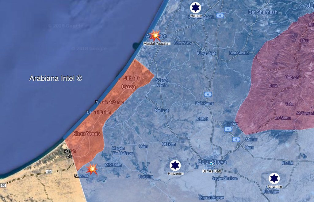 Palestinian Forces Carry Out Massive Shelling Of Israeli Targets. IDF Responds