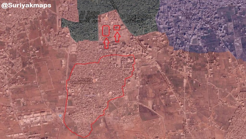 Overview Of Syrian Army's Operation In Southern Damascus On May 6, 2018 (Videos, Map)