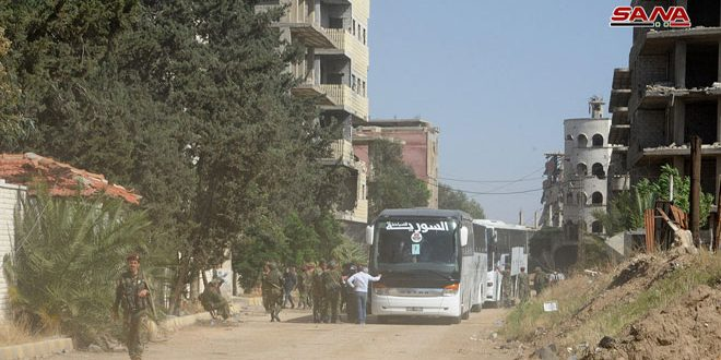 109 Buses With Militants And Their Families Left Southern Damascus Countryside Over Past 3 Days