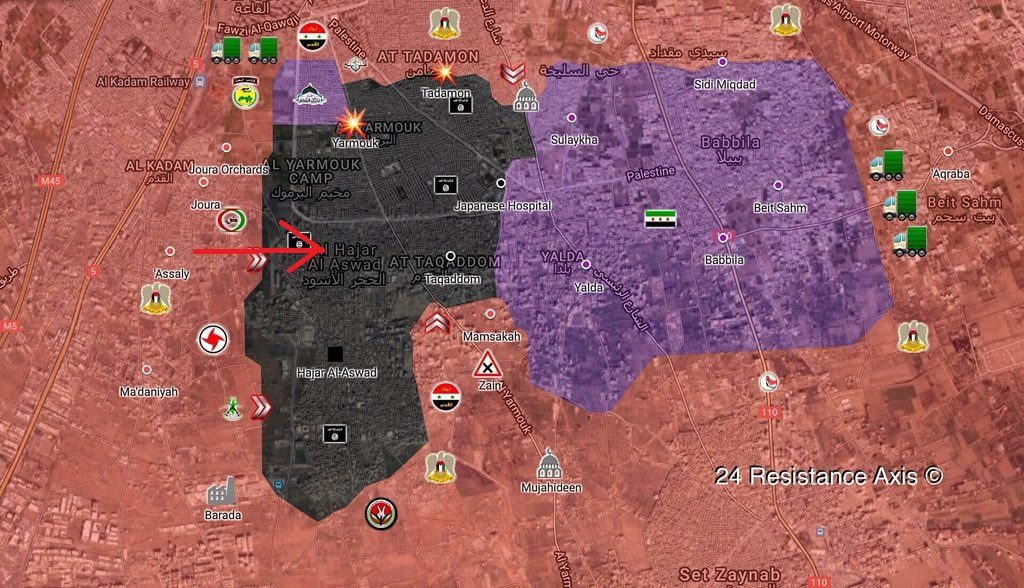 Syrian Army Forces ISIS To Withdraw From Farm Area Near Al-Hajar al-Aswad In Southern Damascus - State Media