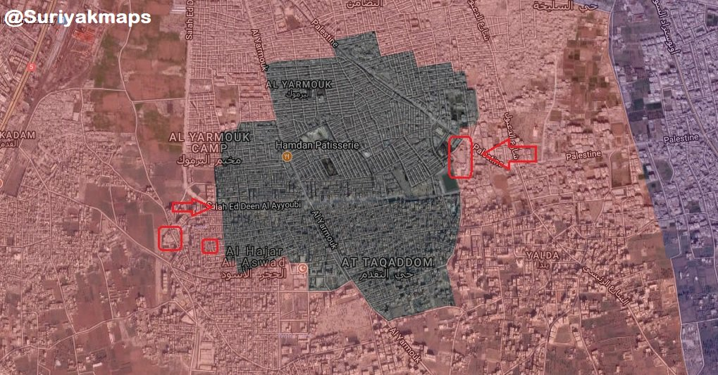 Overview Of Syrian Army's Operation In Southern Damascus On May 8, 2018 (Maps)