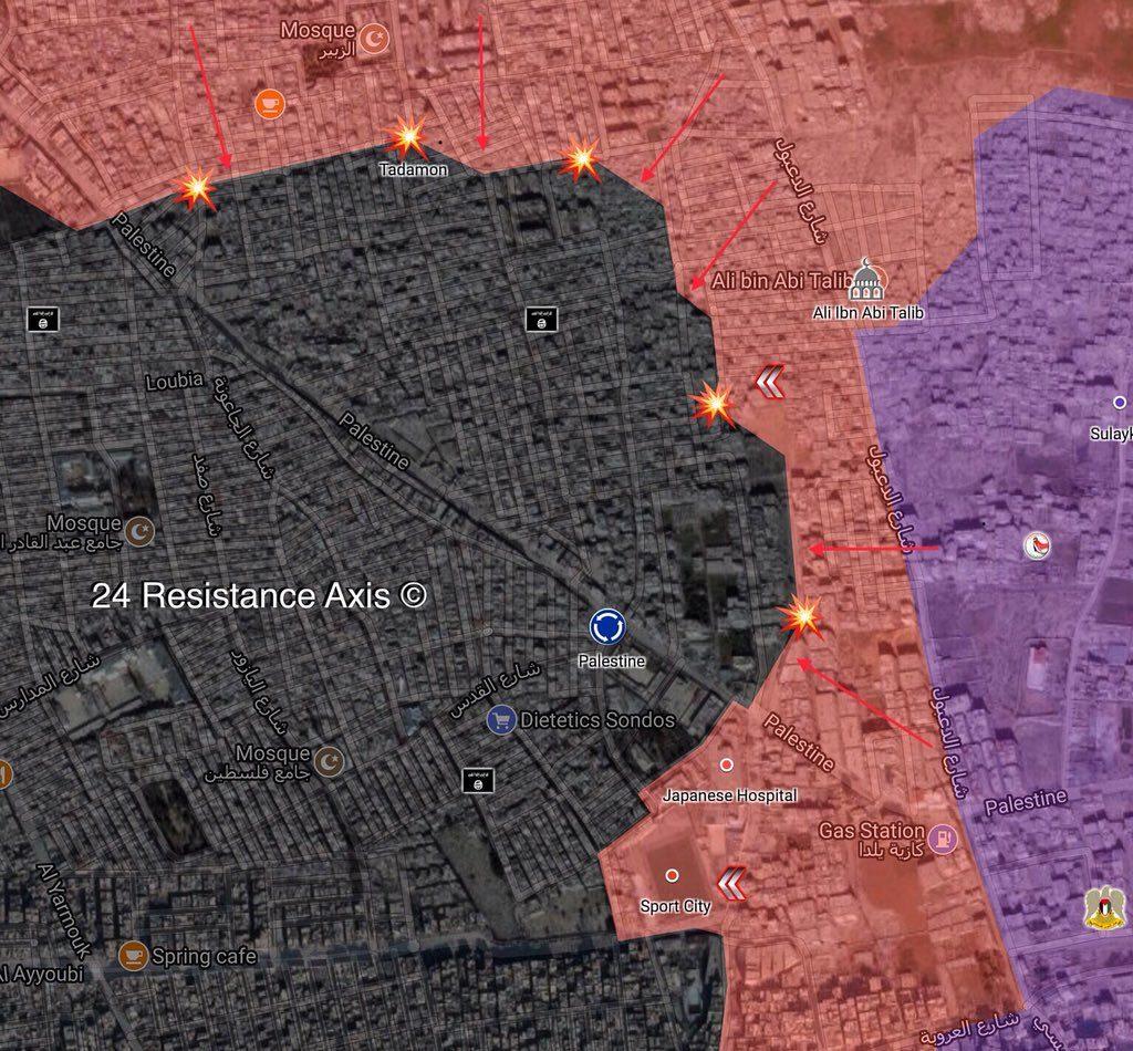 Syrian Army Recaptures Palestine Sport Town, Advances In Tadamon (Map)