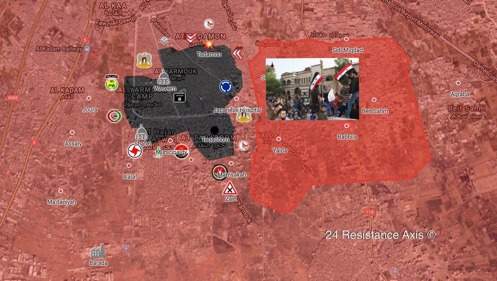 Overview Of Syrian Army's Operation In Southern Damascus On May 11, 2018 (Map, Videos)
