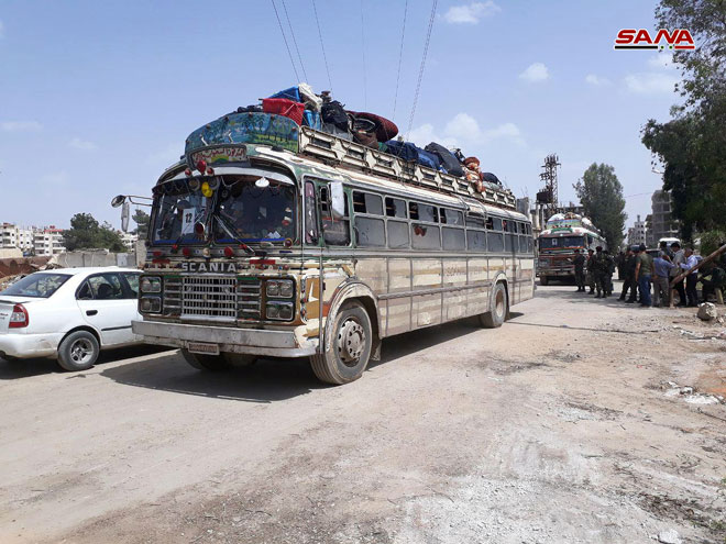 First Batch Of Militants Withdraw From Southern Damascus (Photos)