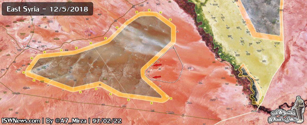 Map Update: ISIS-held Areas Crumbling In Eastern Syria