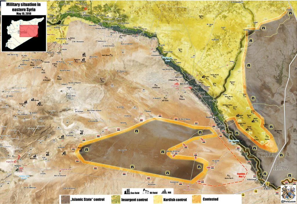 Map Update: Military Situation In Eastern Syria Amid Ongoing US-backed Operation Against ISIS