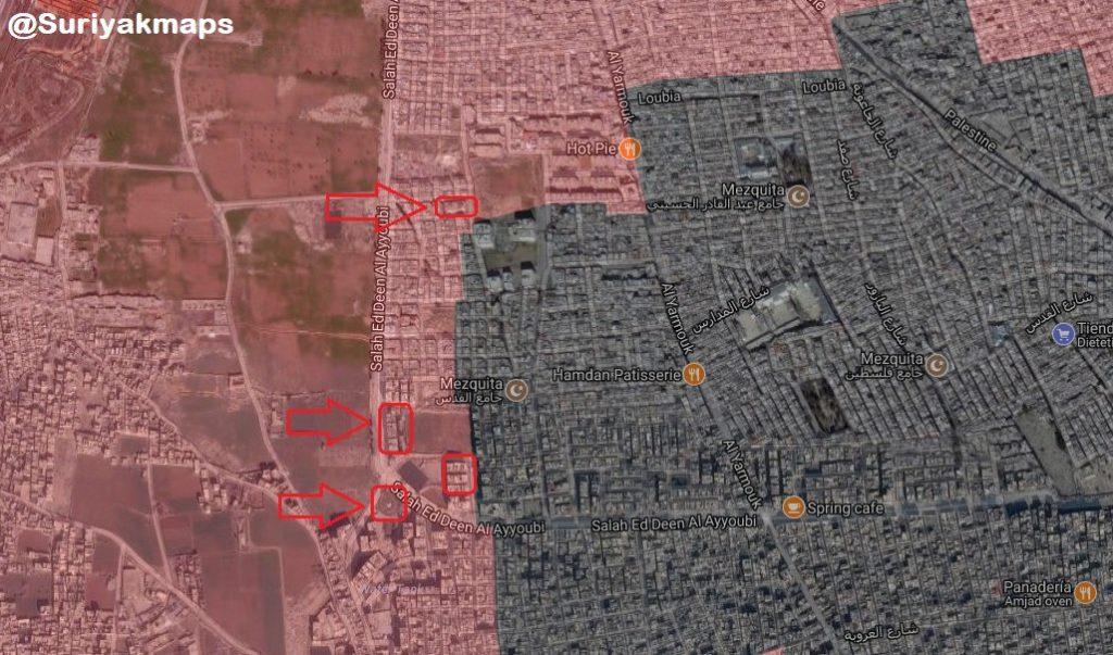 南ダマスカスでの軍事作戦の概要(地図、ビデオ)2018年5月14日