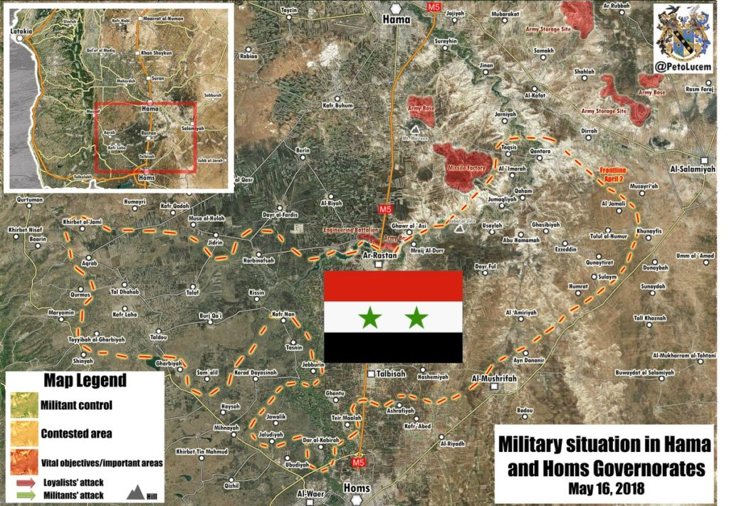Map Update: Military Situation In Syria Following Liberation Of Rastan Pocket