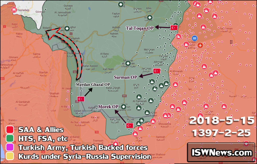 Maps: Turkish Military Expands Its Network Of Observation Posts In Militant-held Part Of Western Syria