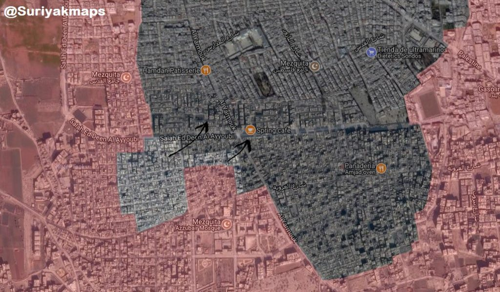 In Maps: Syrian Forces' Advances Against ISIS In Southern Damascus