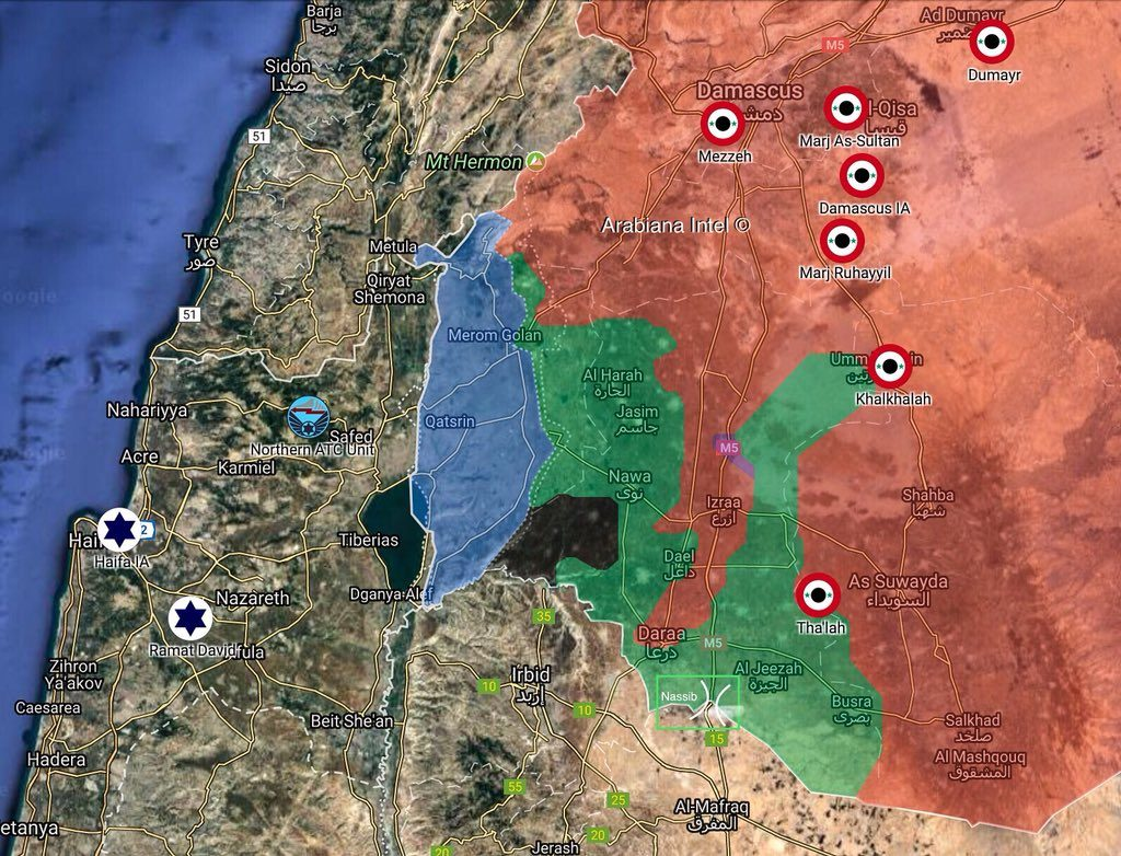 In Maps: Possible Objectives Of First Phase Of Expected Syrian Army Advance In Daraa Province