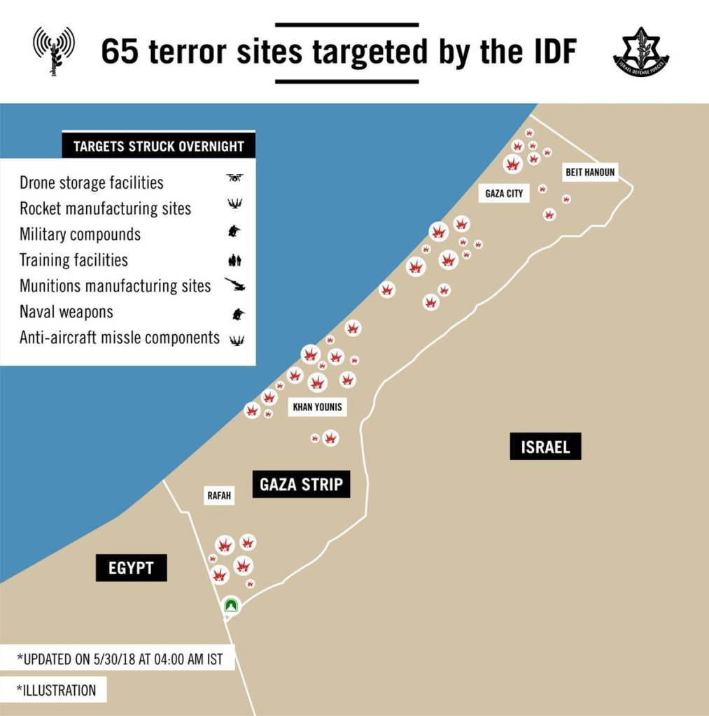 Israeli Forces Struck At least 65 Targets In Gaza. Palestinian Forces Launched At least 70 Projectiles
