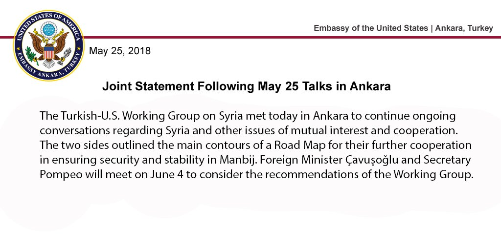 Turkey And US Agree On Road Map For Cooperation In Manbij City