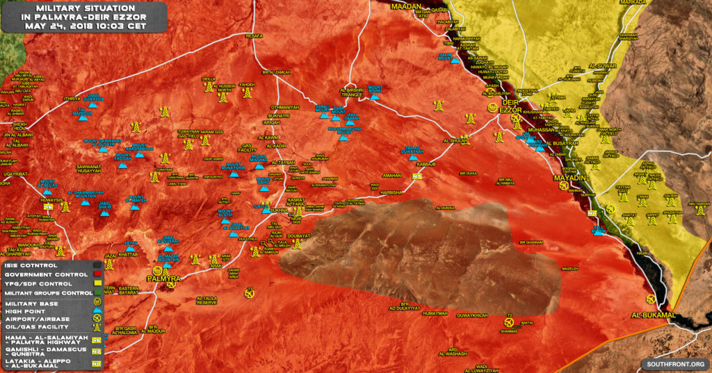 ISIS Cotninues Attacks On Government Forces In Homs Desert, Army Responds Preparing For Advance