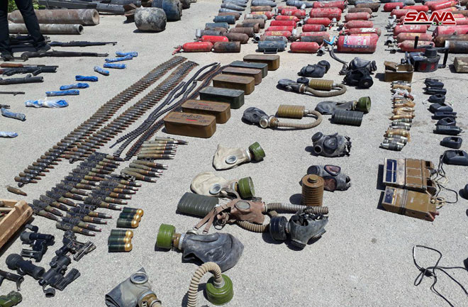 In Photos: Syrian Troops Recover Weapons, Medical Equipment From Liberated Areas In Southern Damascus