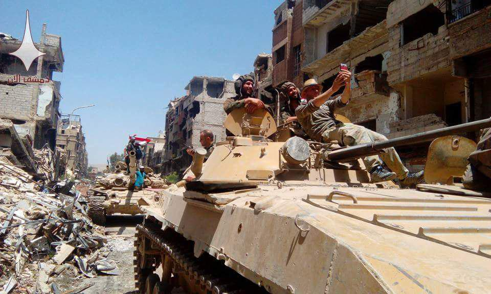 In Photos: Syrian Troops Celebrating Liberation Of Yarmouk In Southern Damascus