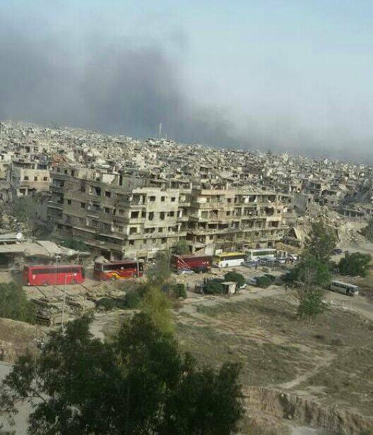 ISIS Fighters Burn Their Headquarters In Southern Damascus Ahead Of Their Expected Withdrawal