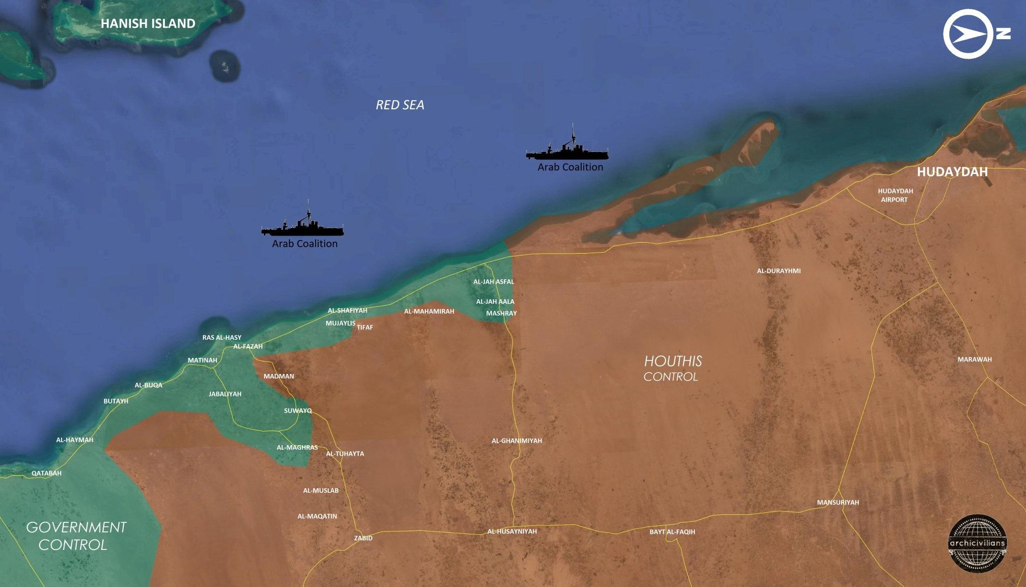 Saudi-led Coalition Captures Multiple Positions In Western Yemeni Coast (Map, Video)