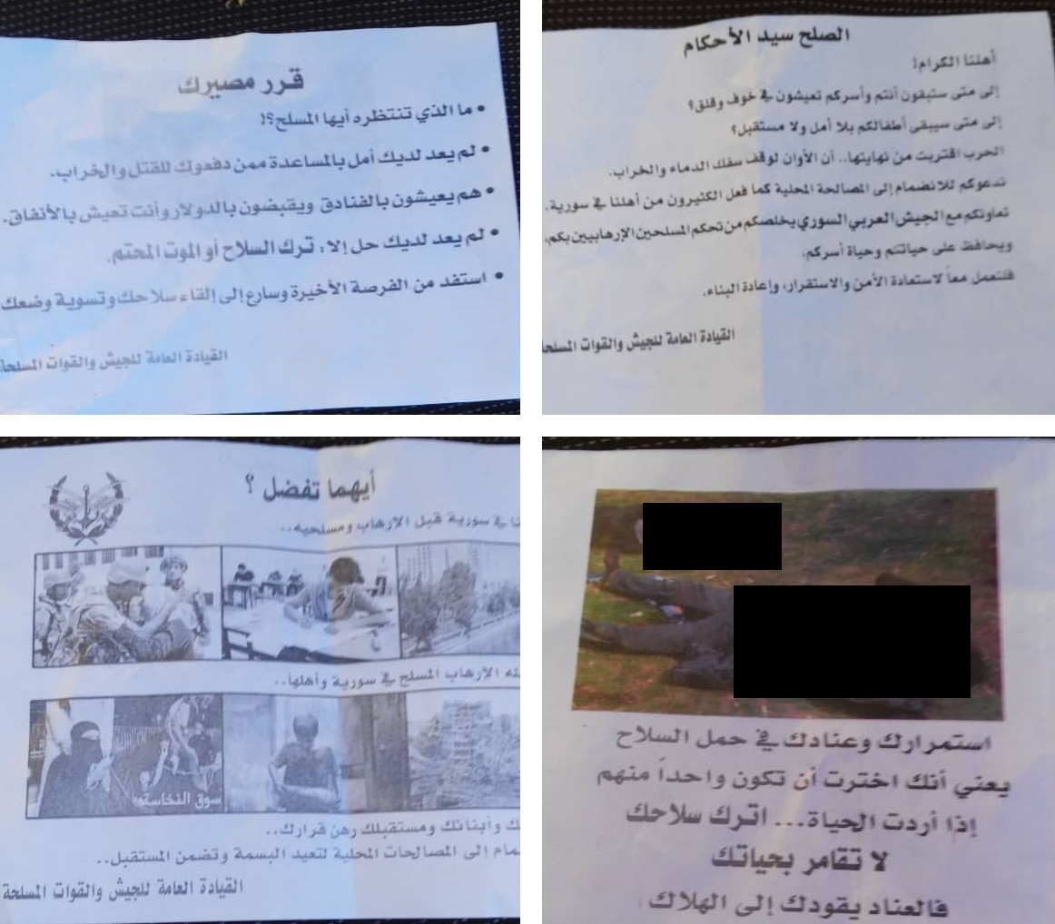 Syrian Helicopters Drop Leaflets Over Idlib