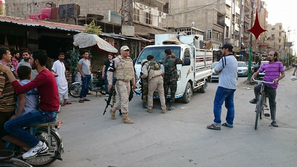Russian Military Police Arrests Looters In Southern Damascus. Security Forces Strom Illegal Markets (Photos)