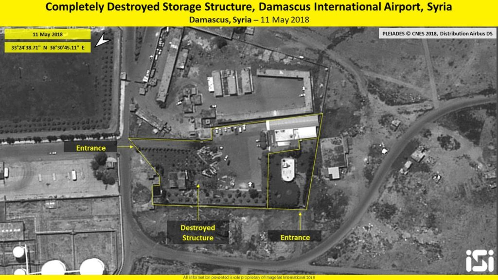 Satellite Imagery Show Damage Caused By Israeli Strikes To Government Forces' Positions In Damascus International Airport