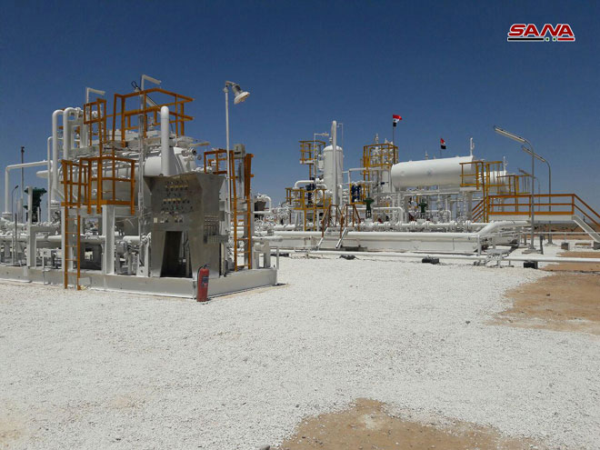 Syrian Government Relaunches Dabisan Gas Field In Raqqah Province (Photos)