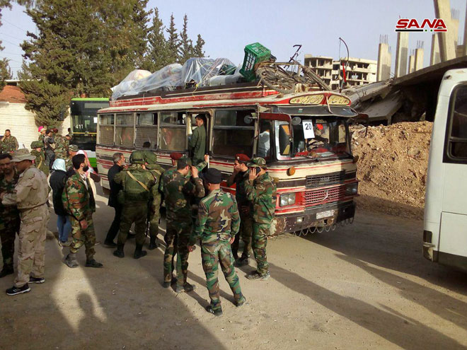 Last Batch Of Militants Withdraw From Four Districts In Southern Damascus (Photos)