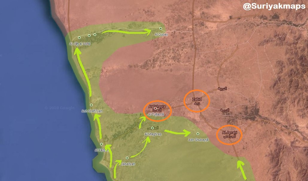 Saudi-led Coalition Is About To Capture Three More Districts Along Western Yemeni Coast (Map)