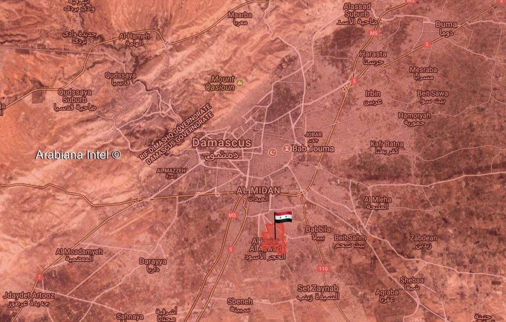 Map Update: Military Situation In Damascus Countryside Following Liberation Of Yarmouk
