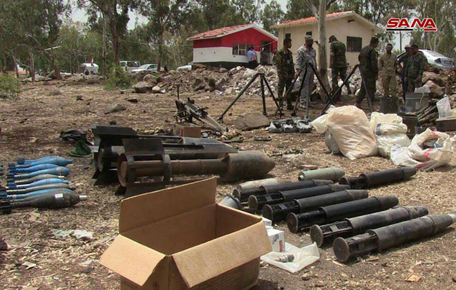 Syrian Forces Seize Large Amount Of Explosives, Weapons In Northern Homs (Photos)