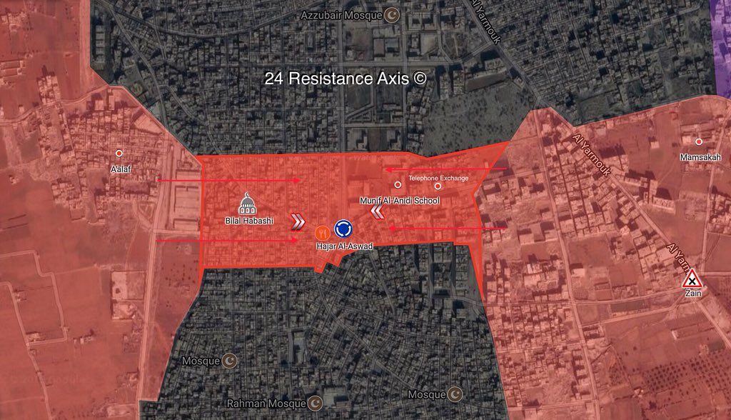 Syrian Army Splits ISIS Pocket In Southern Damascus Into Two Parts (Map)