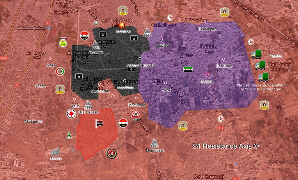 Government Forces Break ISIS Defense, Capture Southern Part Of Hajar al-Aswad District(Map, Video)