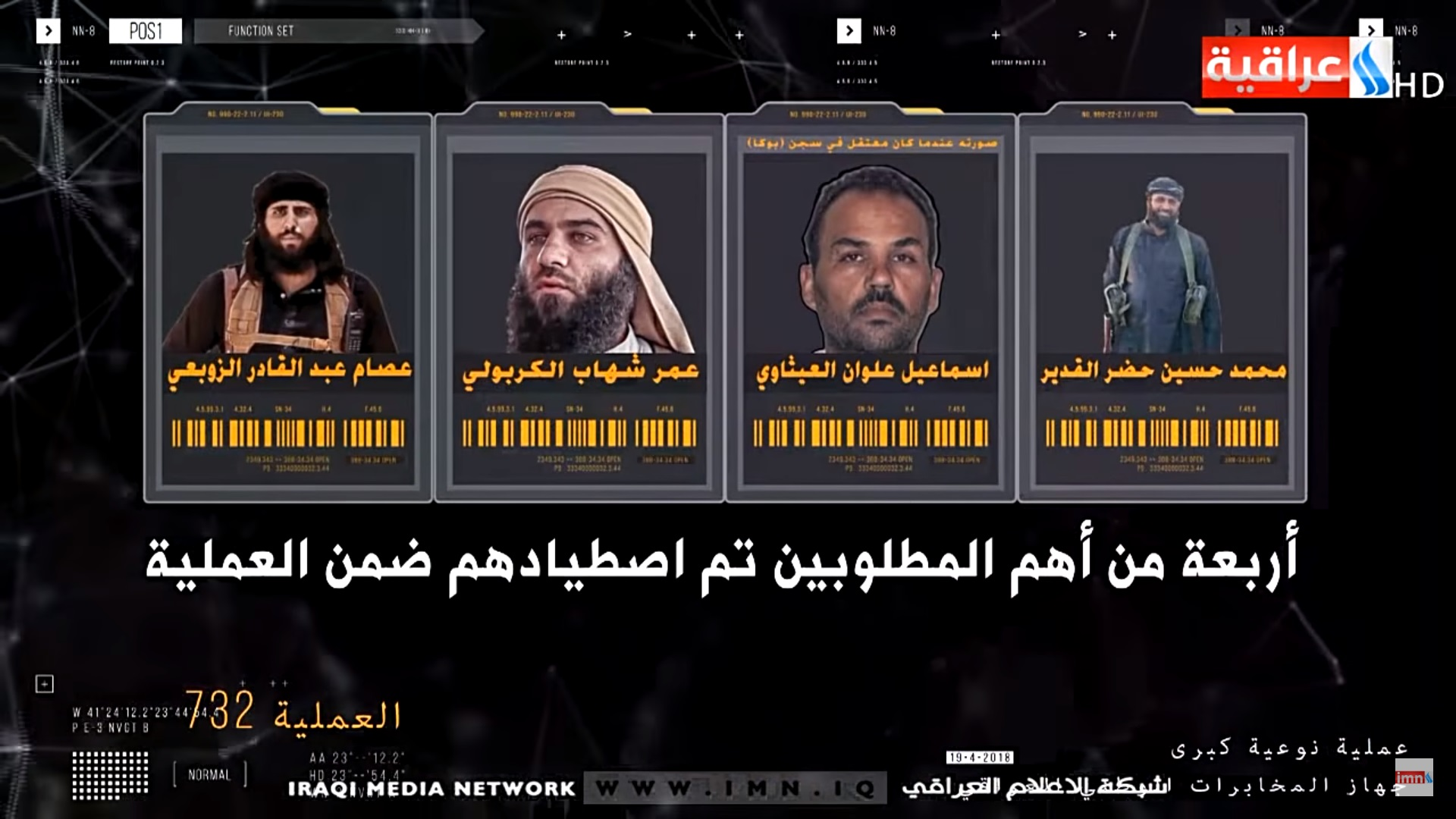 Iraqi Intelligence Captured Five Senior ISIS Commanders In Security Operation
