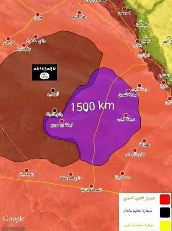Syrian Army Captured 1,500 Km2 In Western Deir Ezzor From ISIS (Video, Map)