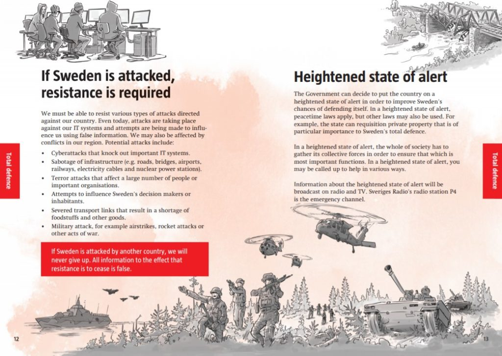 Sweden Calls On Own Citizens To Prepare For War