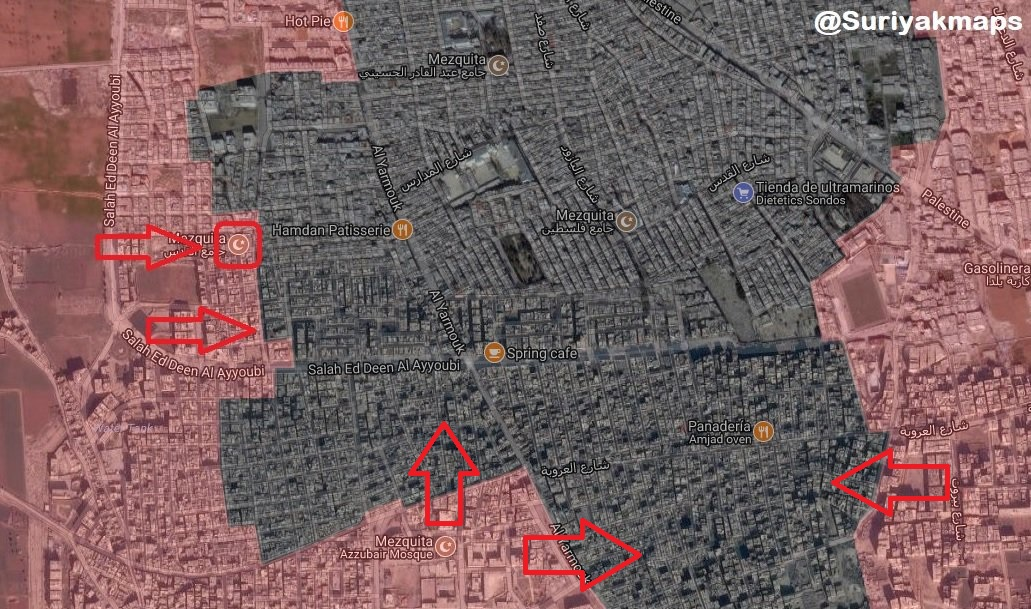 Syrian Army Makes Significant Gains In al-Hajar al-Aswad South Of Damascus (Map, Video)