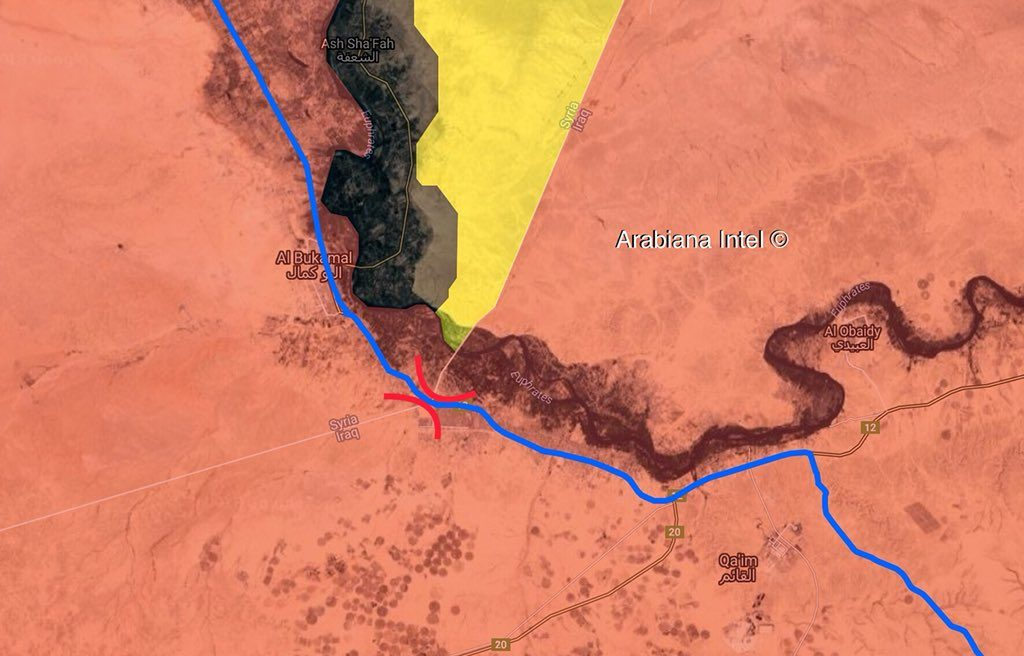 Syria, Iraq Preparing To Reopen Al-Bukamal Border Crossing (Map)