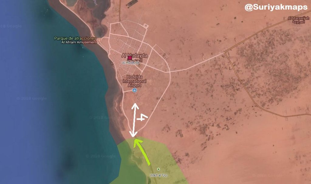 Battle For Yemen's Al-Hudaydah On June 13-14, 2018 (Maps, Videos)