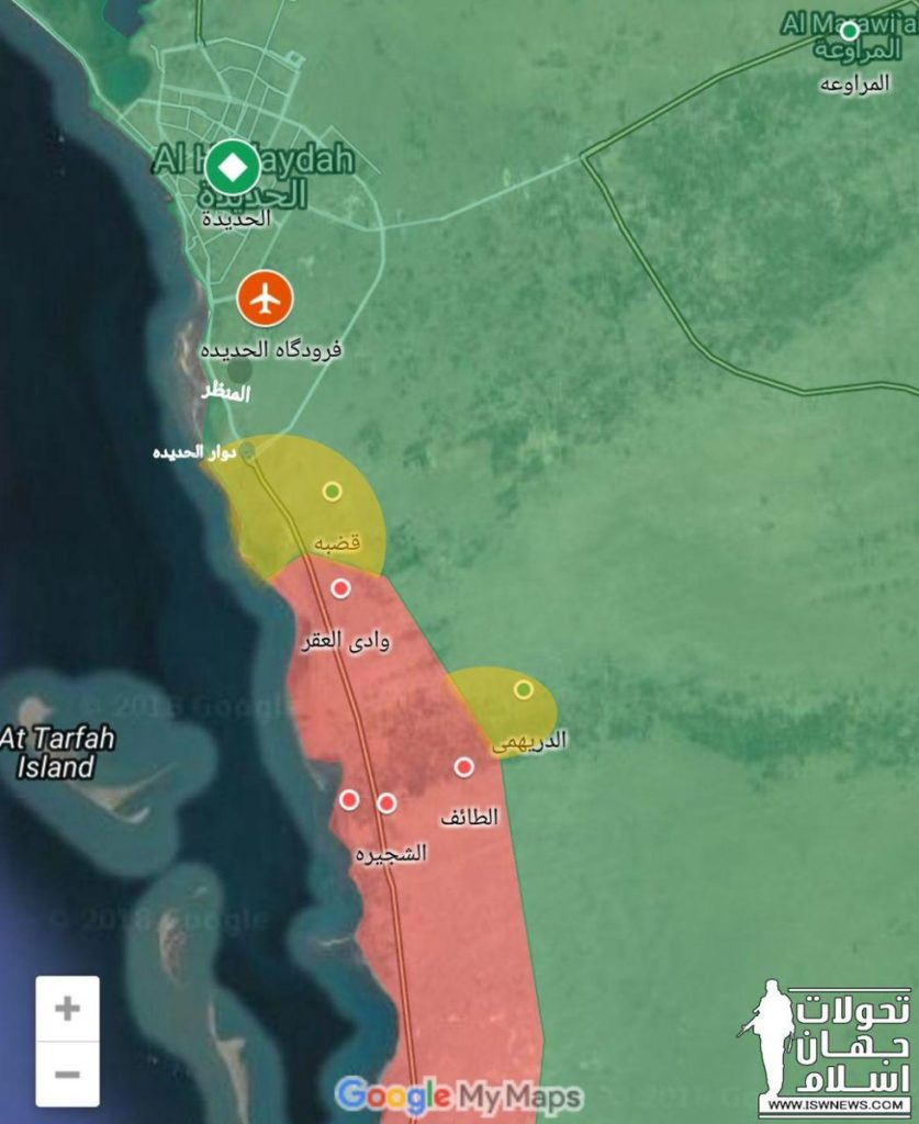 Battle For Yemen's Al-Hudaydah On June 15, 2018 (Maps)