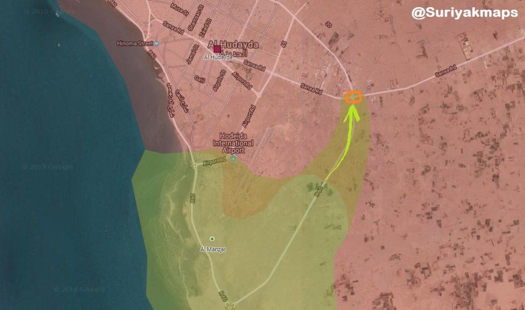 Battle For Yemen's al-Hudaydah On June 17-18, 2018 (Videos, Maps, Photos)