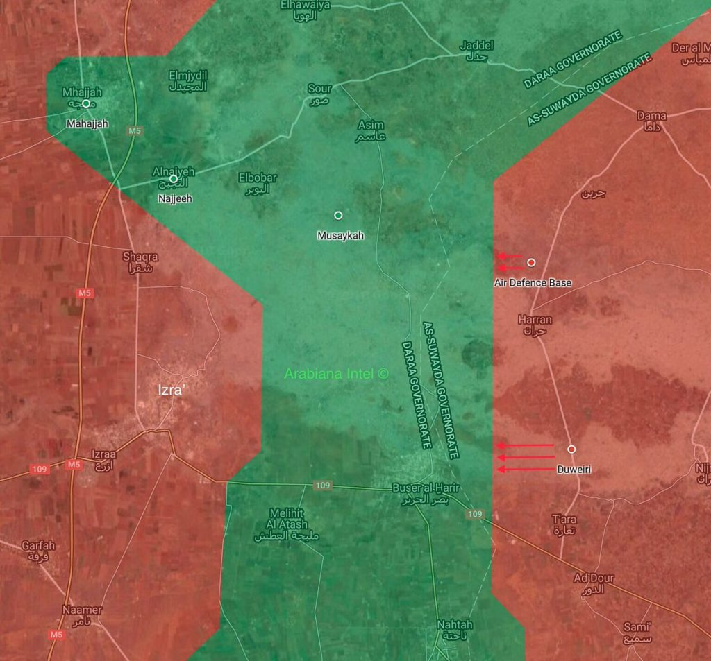 Syrian Army Attacks Militants' Positions Northeast Of Daraa (Maps)