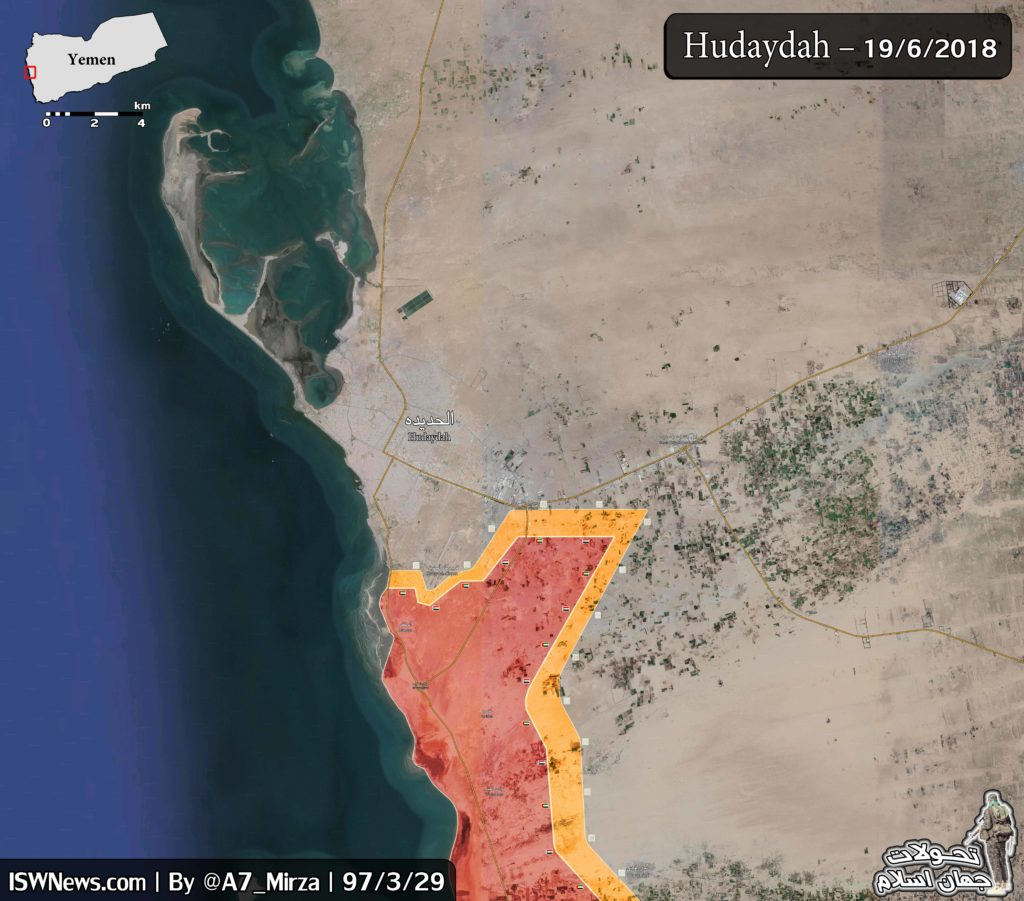 Battle For Yemen's al-Hudaydah On June 20, 2018 (Maps, Videos)