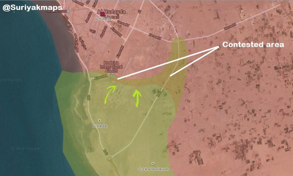 Battle For Yemen's al-Hudaydah On June 20, 2018 (Maps, Videos)
