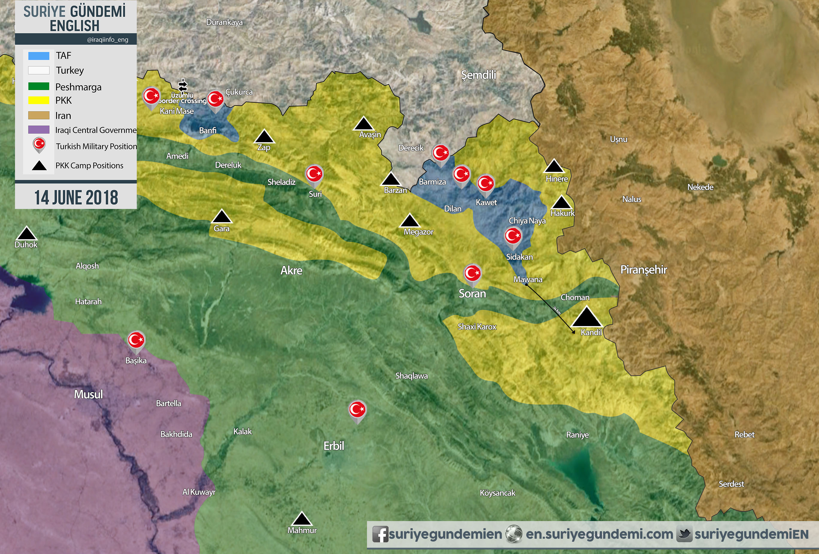 Turkey Has 11 'Temporary' Military Bases In Northern Iraq